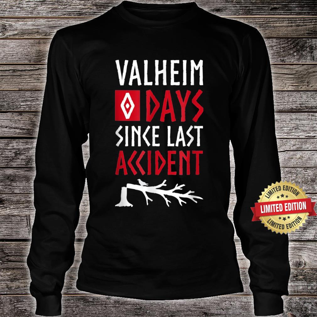 0 Days Since Last Accident Valheim Norse Gamer Shirt long sleeved