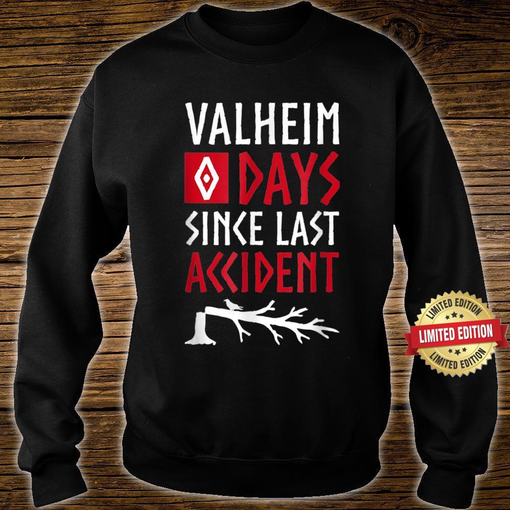 0 Days Since Last Accident Valheim Norse Gamer Shirt sweater