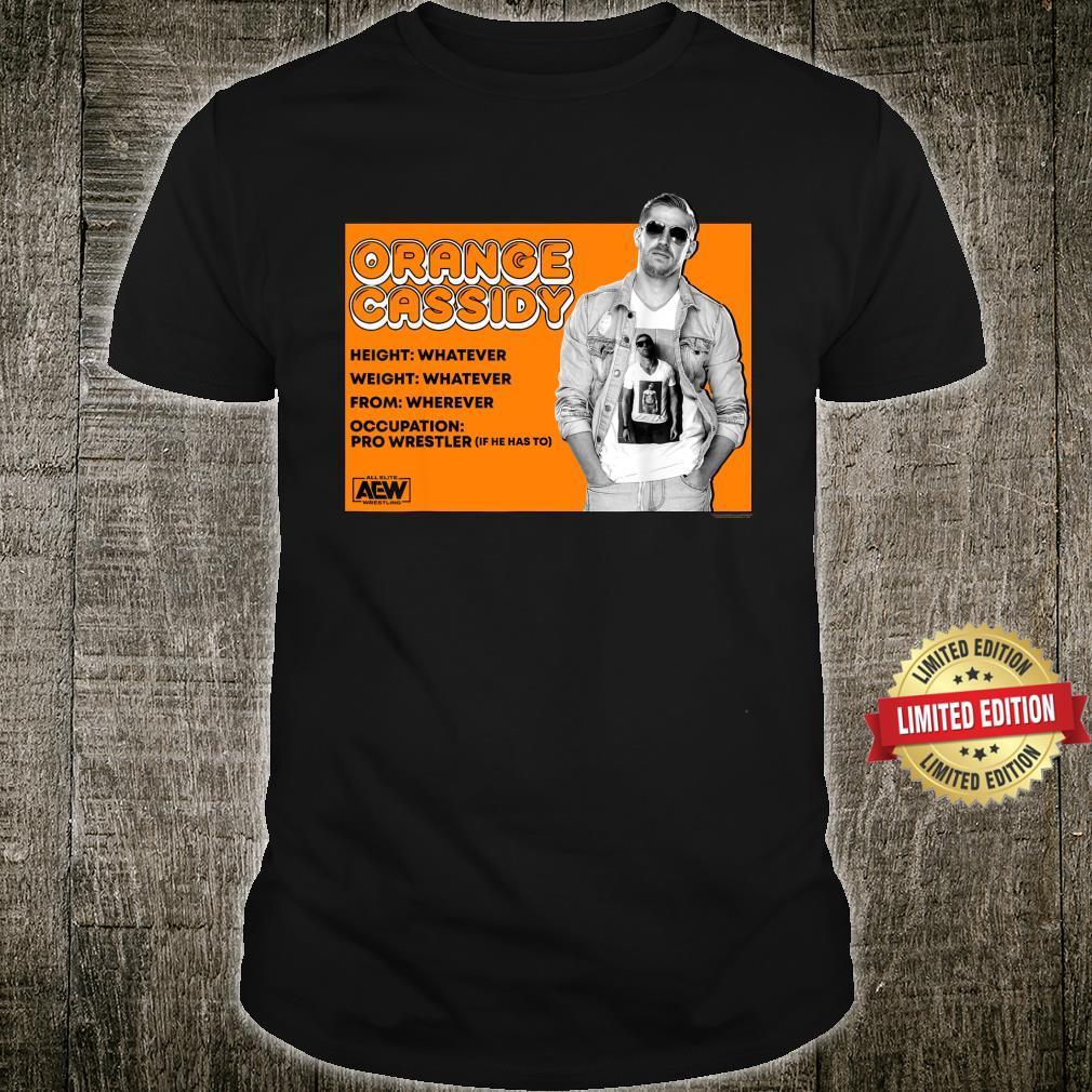 AEW Orange Cassidy Whatever Shirt