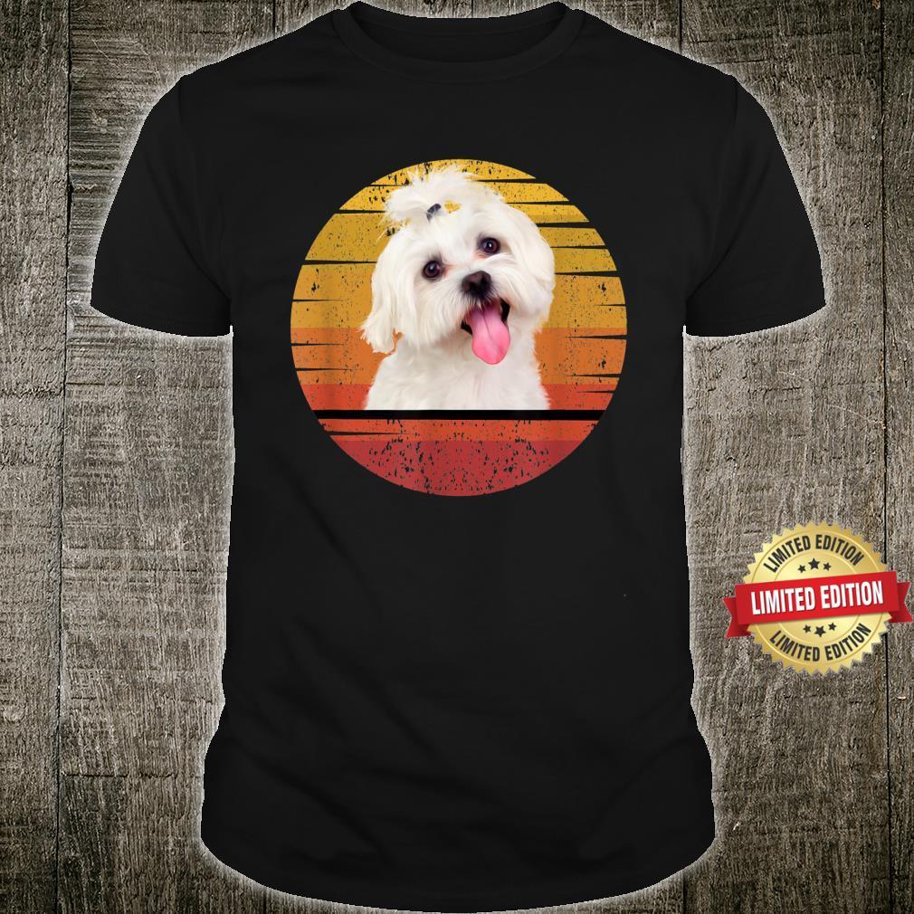 Maltese Retro Maltese Dog Animal Shirt