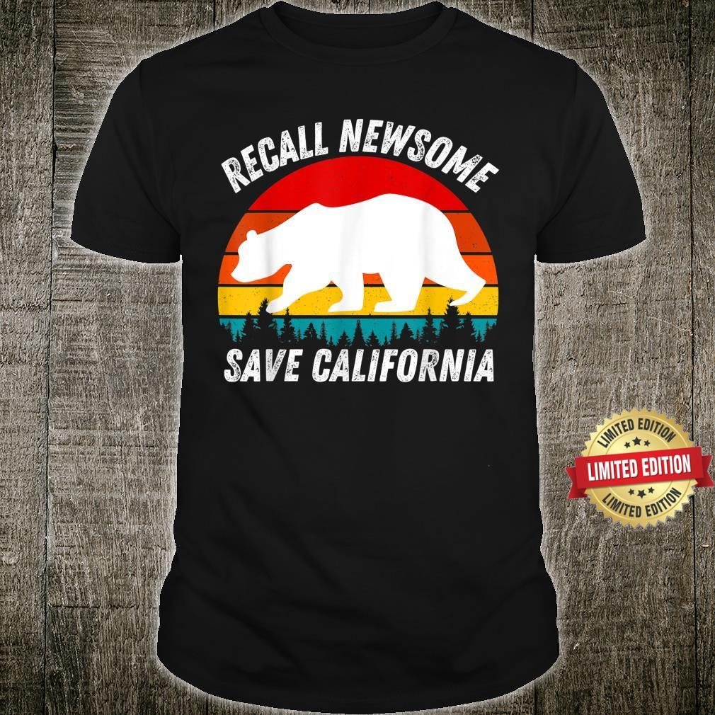 RECALL NEWSOME SAVE CALIFORNIA FIRE GAVIN NEWSOME Shirt