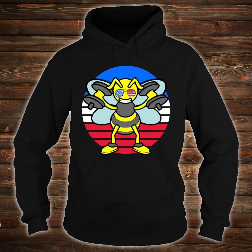 USA Bee Beekeeper Sunglasses Patriotic American Flag Shirt hoodie