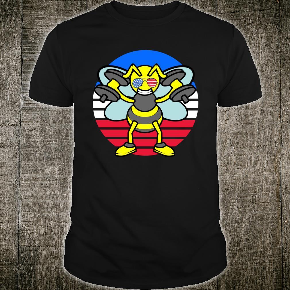USA Bee Beekeeper Sunglasses Patriotic American Flag Shirt