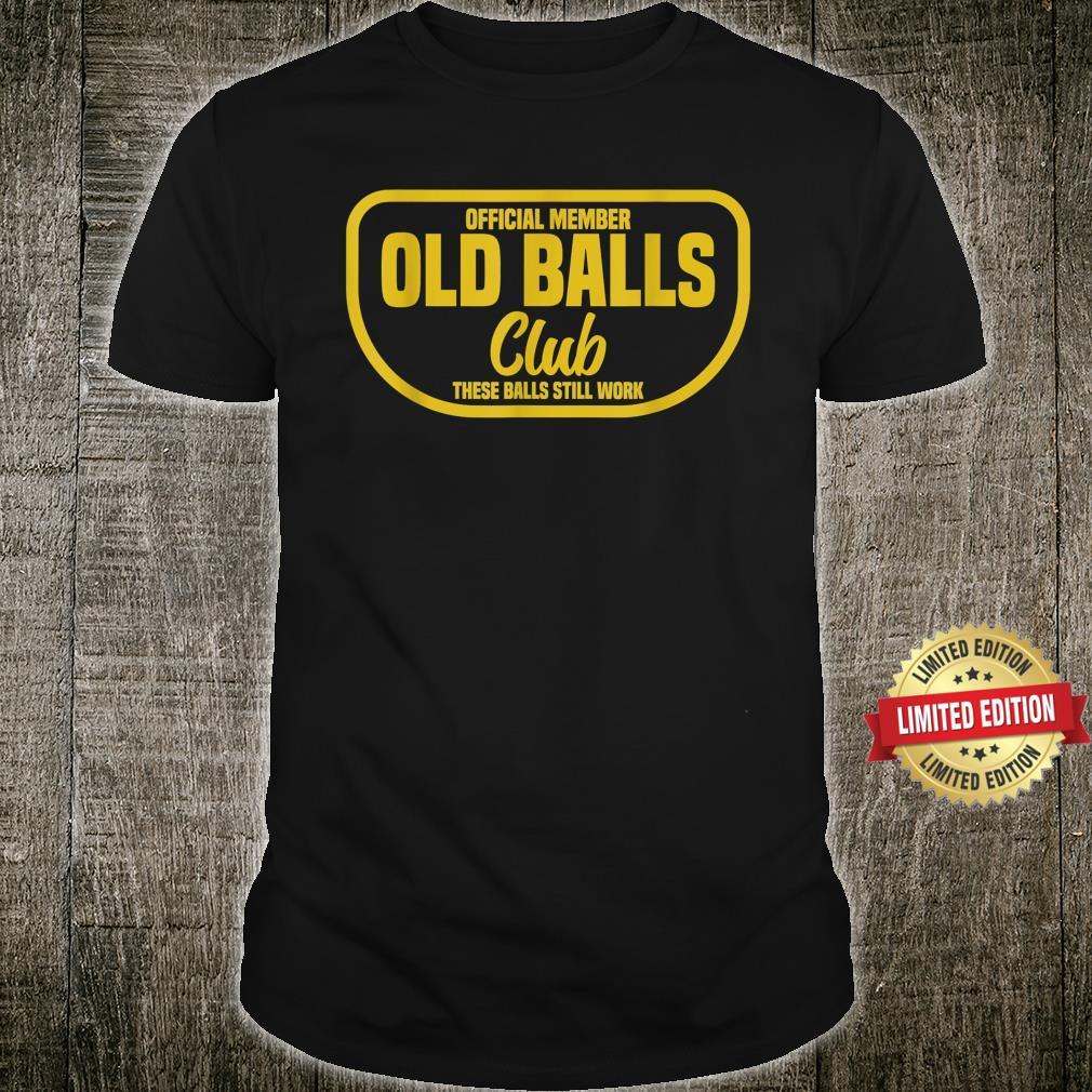 Vintage Awesome Old Balls Club Birthday Shirt
