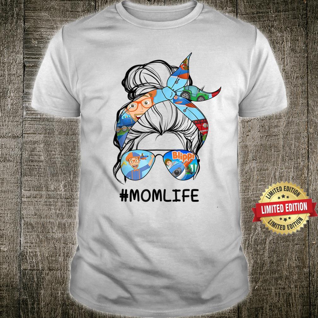 Vintage Blippis Mom Life Kid Shirt
