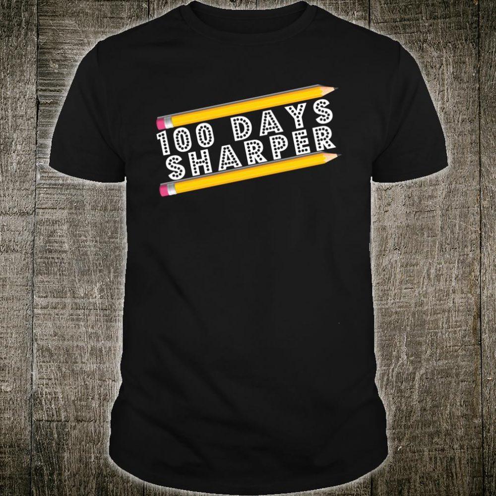 100 Days of School Teacher Kids Sharper Pencil Shirt