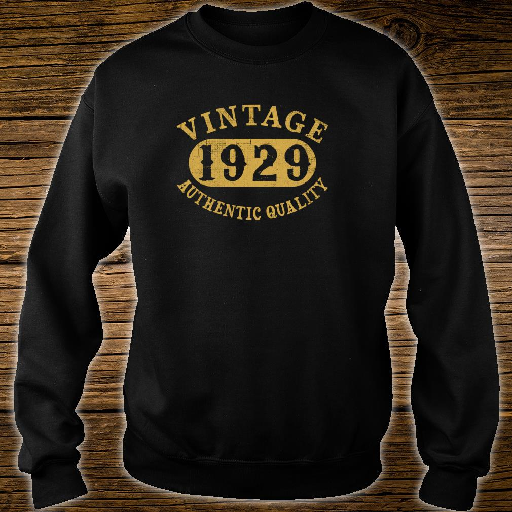 1929 Vintage 90 years old 90th Birthday Shirt sweater