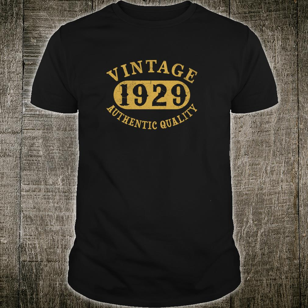 1929 Vintage 90 years old 90th Birthday Shirt