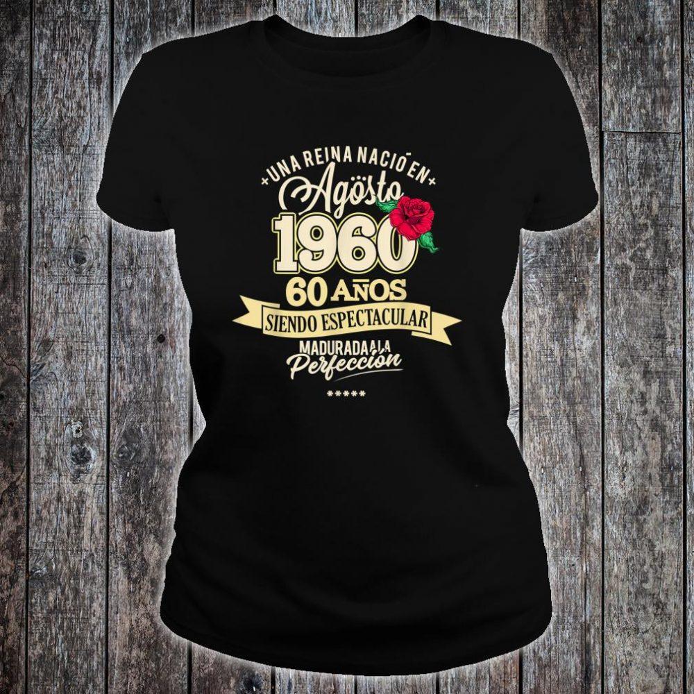 1960 60 Years August Birthday 2020 Shirt ladies tee