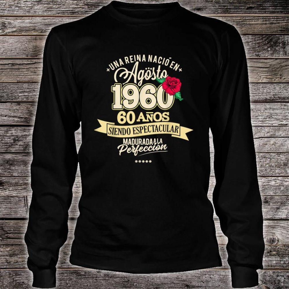 1960 60 Years August Birthday 2020 Shirt long sleeved