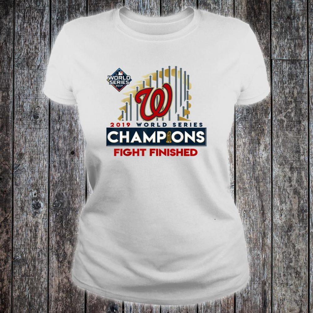 2019 World Series Champions Washington Fight Finish Shirt ladies tee