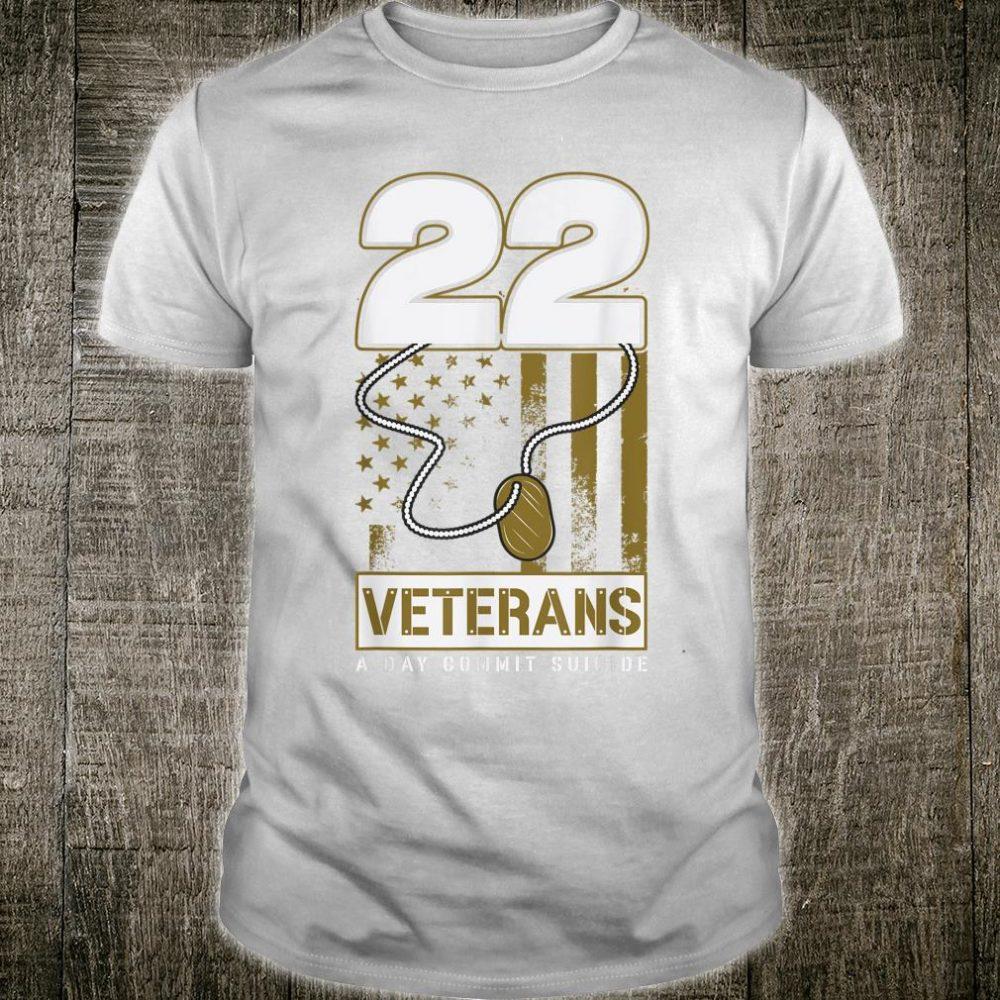 22 Dog Tag Veteran Suicide Awareness Shirt