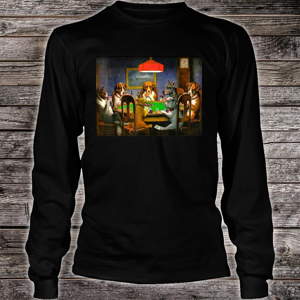 A Friend in Need (Dogs Playing Poker) Shirt long sleeved