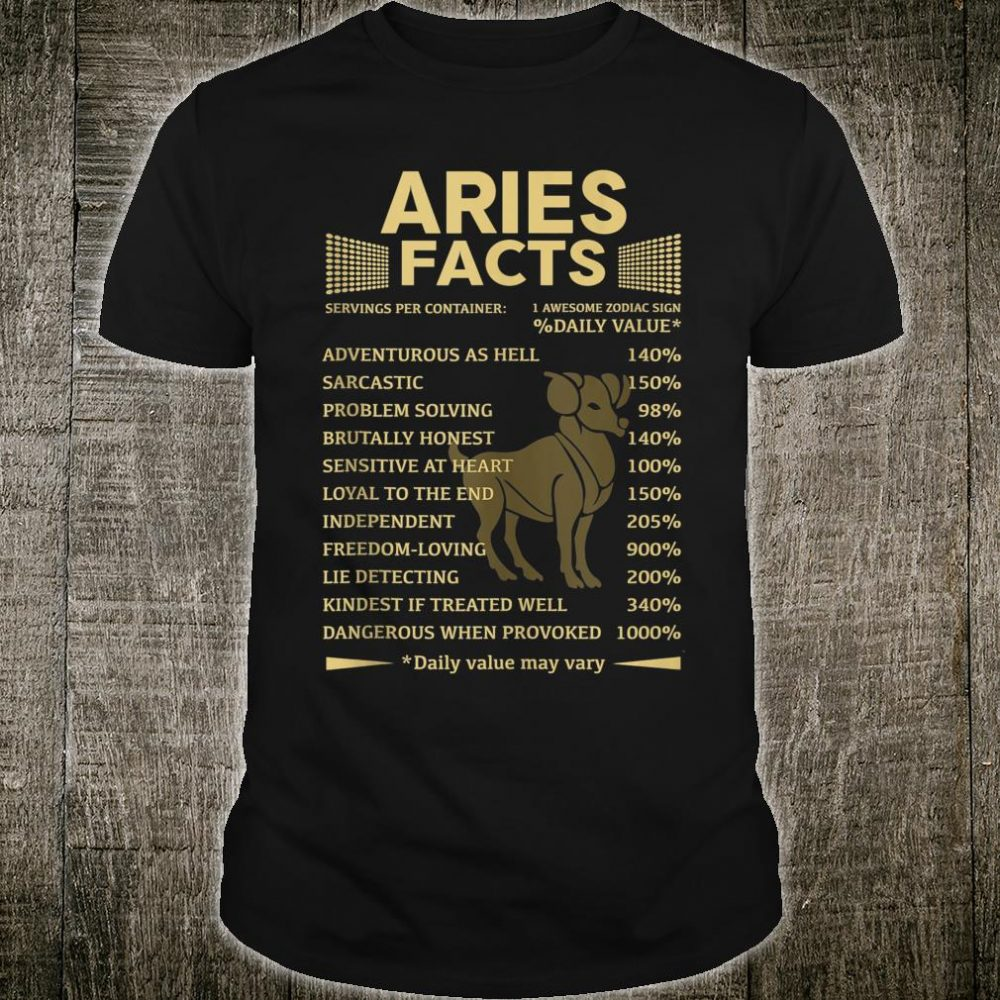 ARIES Facts ARIES Awesome Horoscope ARIES Shirt