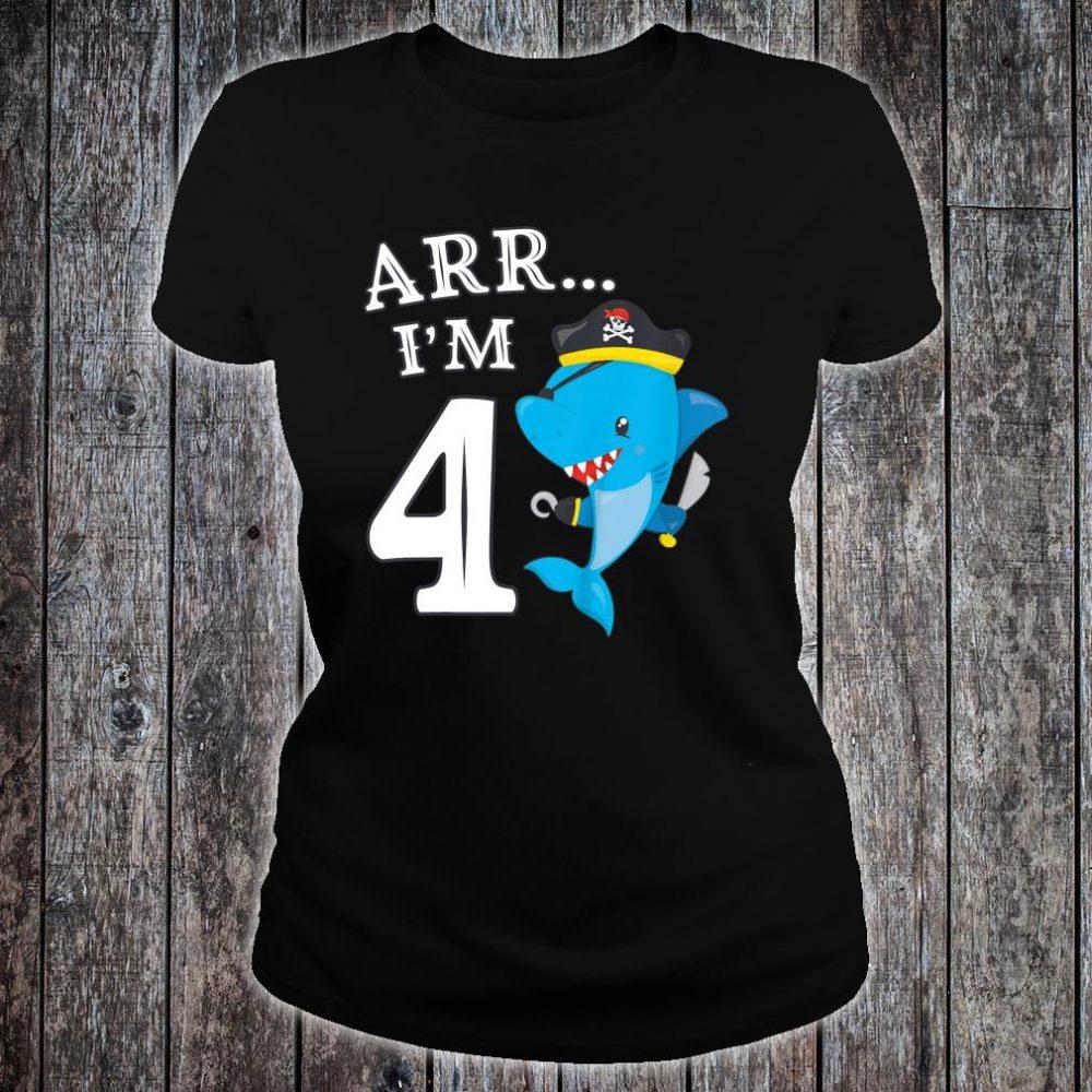 ARR I'M 4 Shark Shirt ladies tee