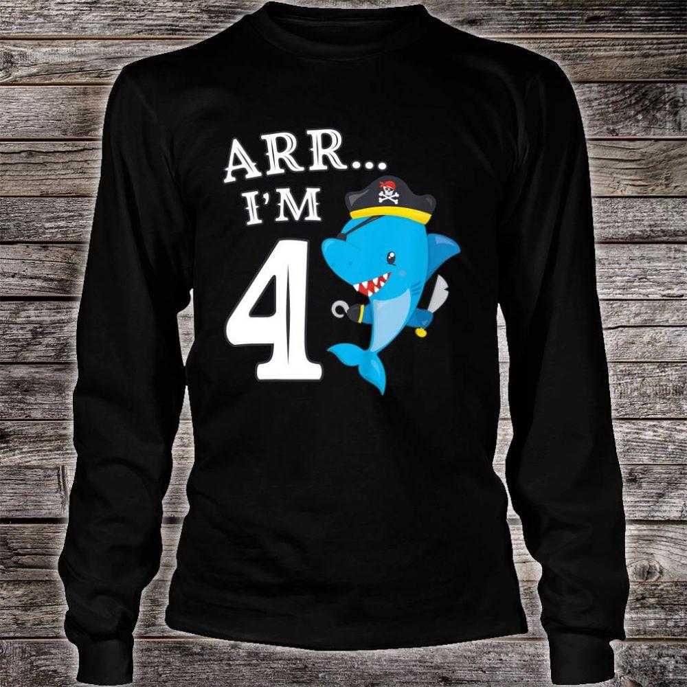 ARR I'M 4 Shark Shirt long sleeved