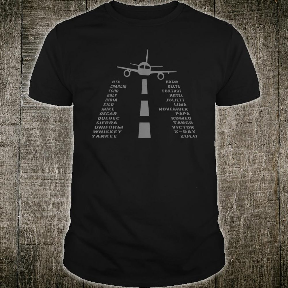 Airplane Pilot's Phonetic Alphabet Shirt