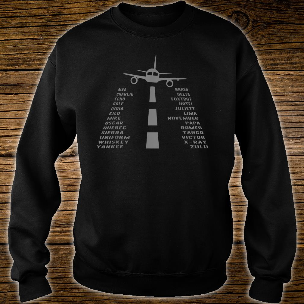 Airplane Pilot's Phonetic Alphabet Shirt sweater