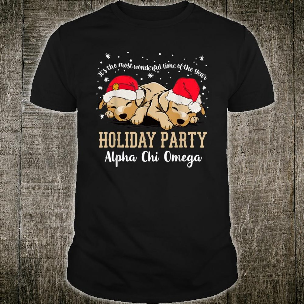 Alpha Chi Omega Christmas Holiday Party Sorority Shirt