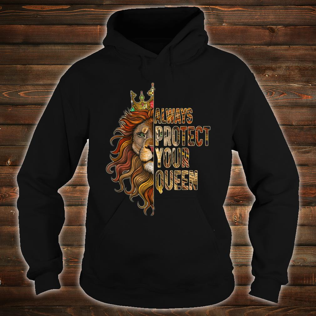 Always Protect Your Queen Lion Couple Shirt hoodie