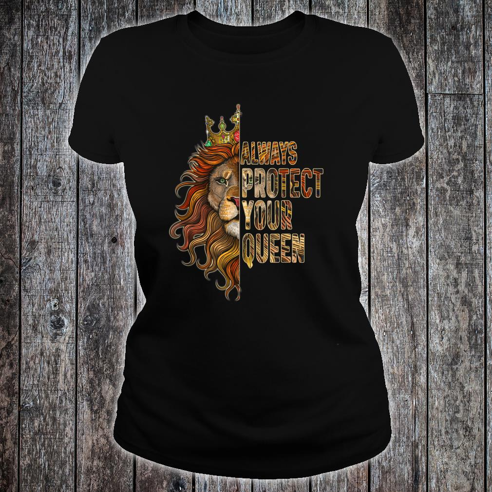 Always Protect Your Queen Lion Couple Shirt ladies tee
