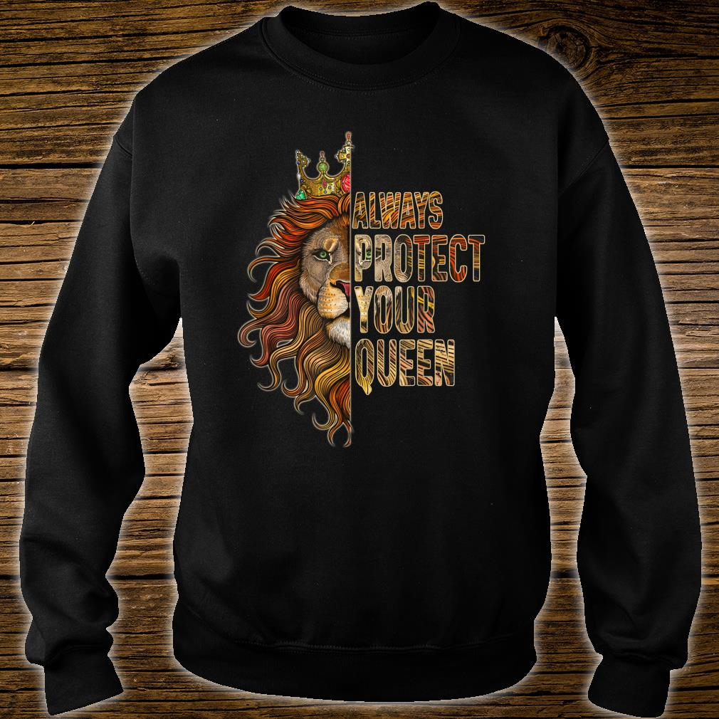 Always Protect Your Queen Lion Couple Shirt sweater