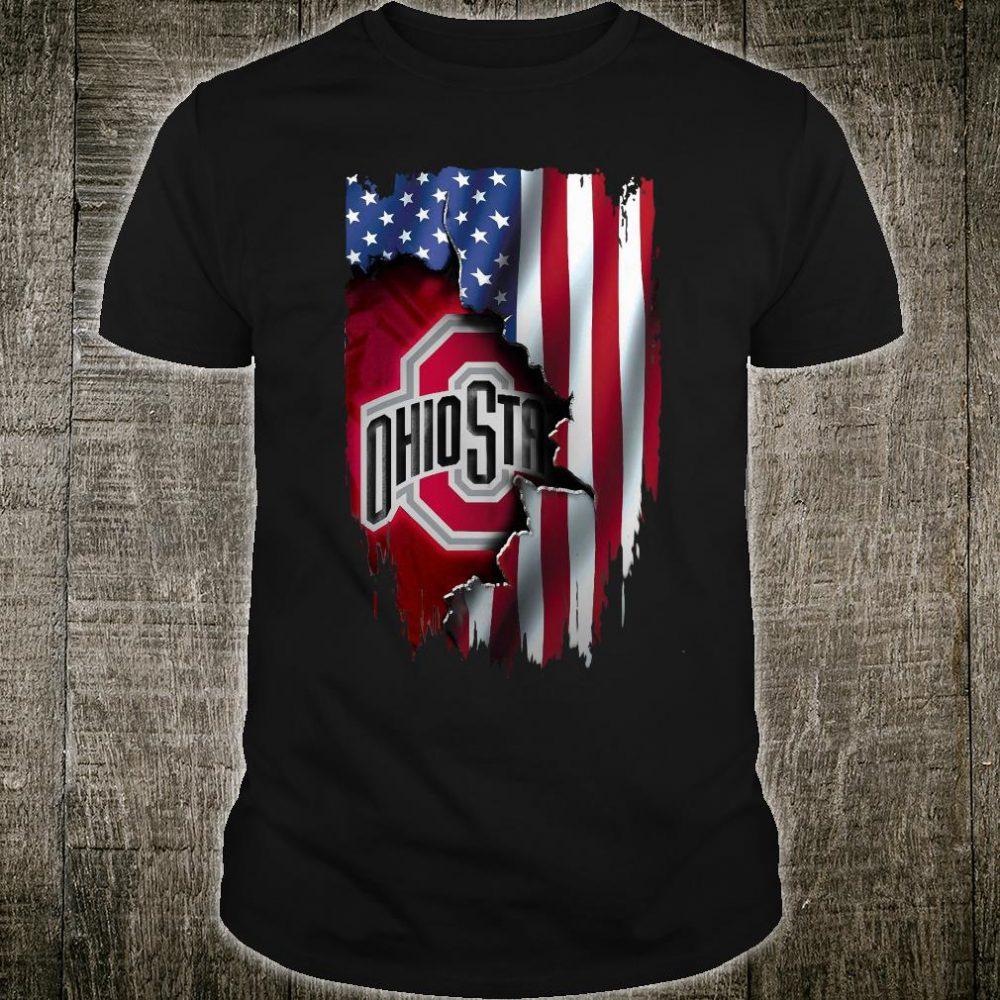 America flag Ohio state shirt