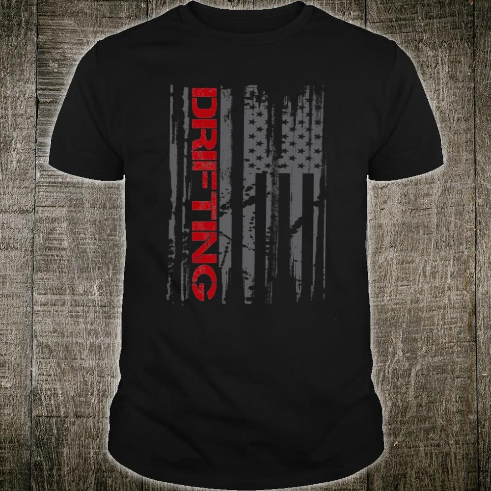 American Flag Car Racing Drifting Shirt