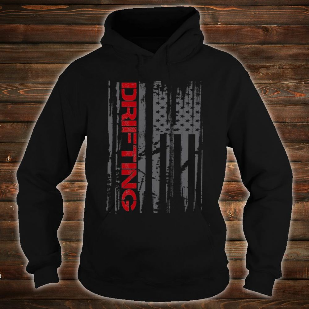 American Flag Car Racing Drifting Shirt hoodie