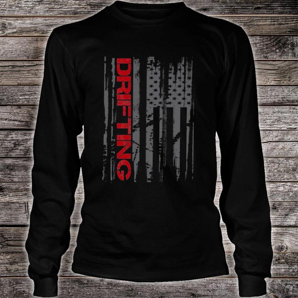 American Flag Car Racing Drifting Shirt long sleeved