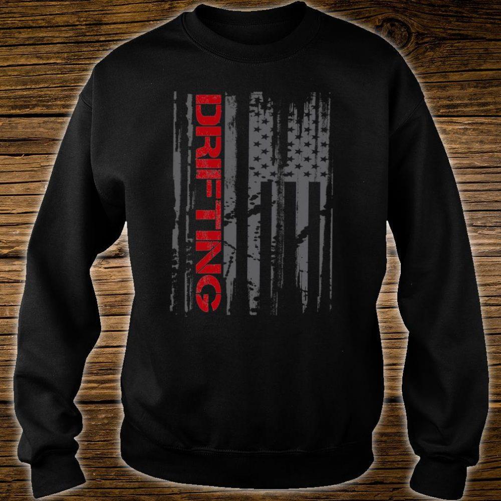 American Flag Car Racing Drifting Shirt sweater