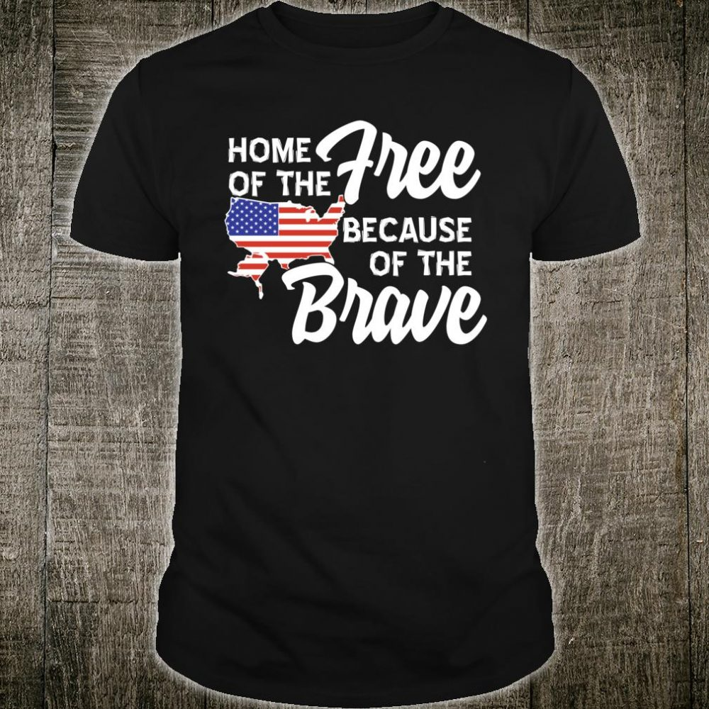 American USA Free and Brave 4th of July Shirt