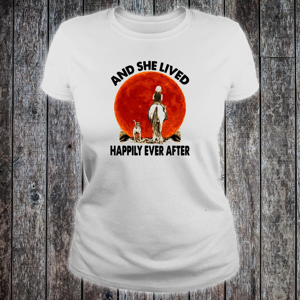 And she lived happily ever after shirt ladies tee
