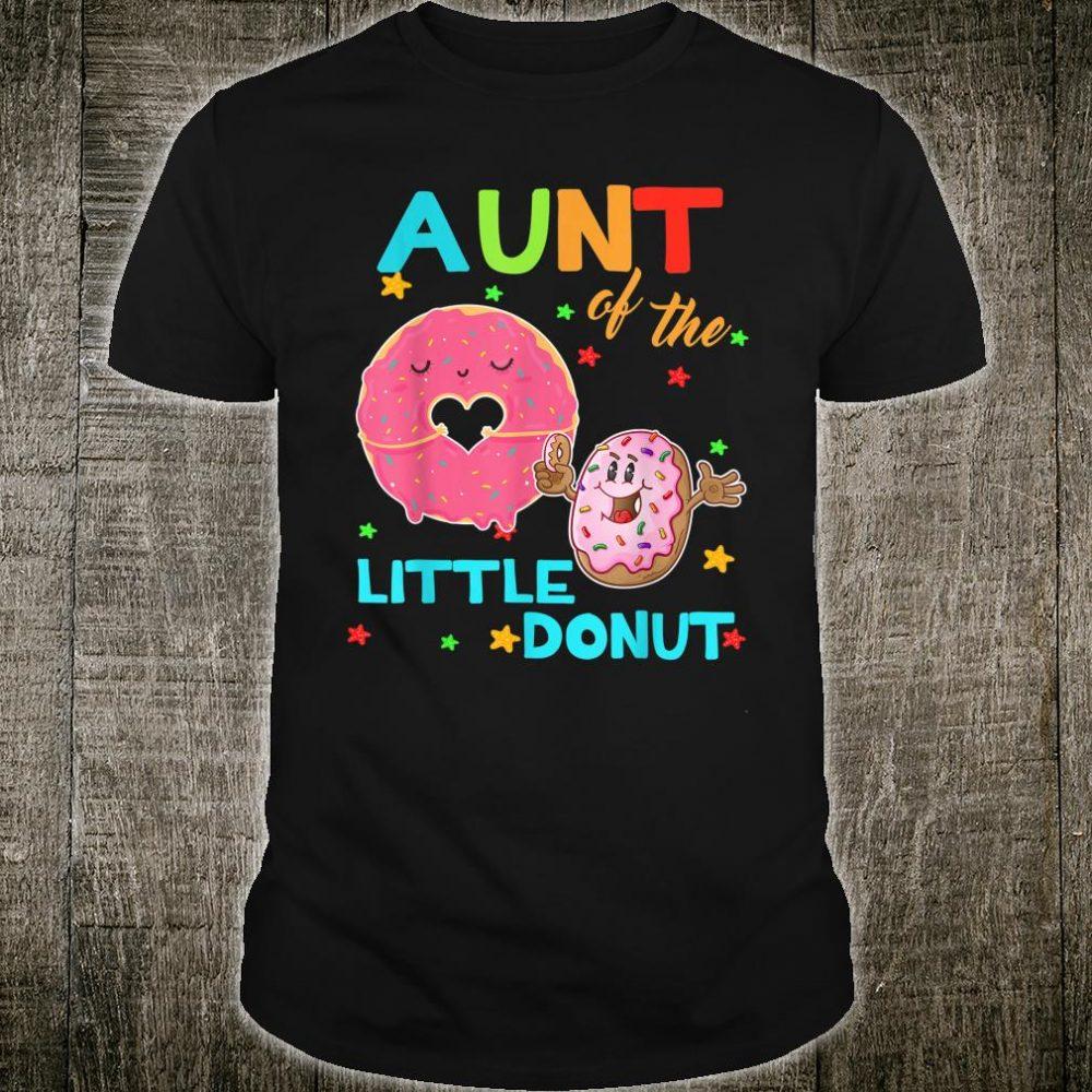 Aunt Of The Little Donut Birthday Shirt Aunt Donut Shirt
