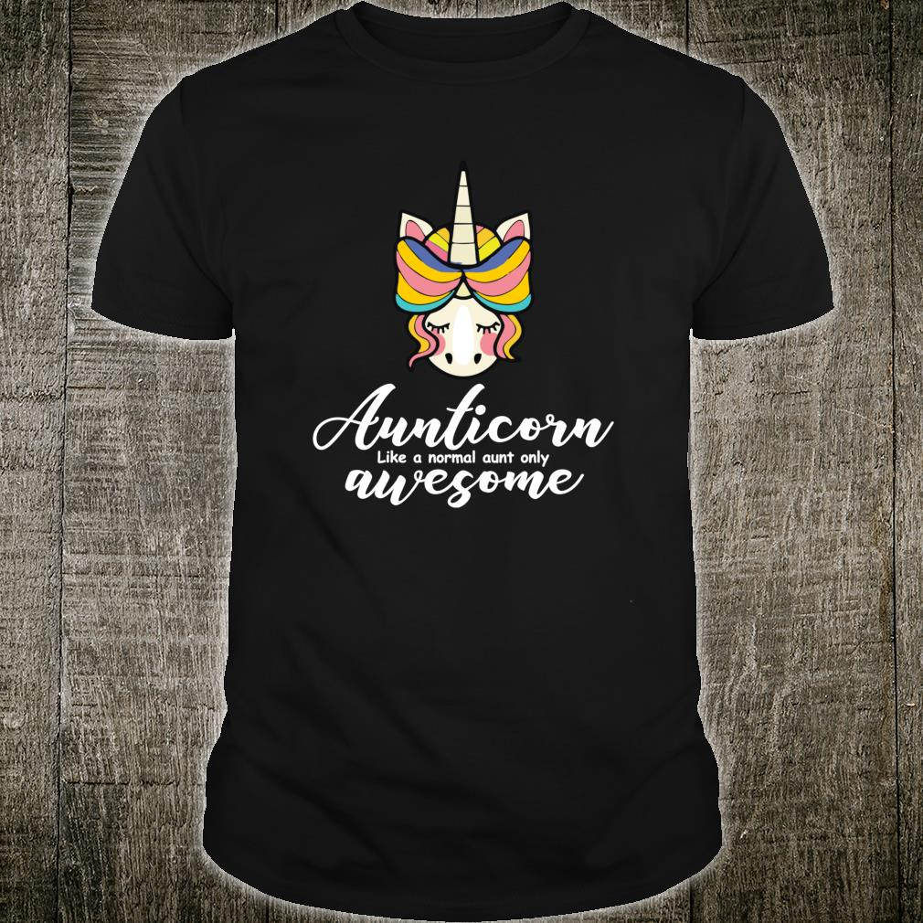 Aunticorn normal aunt but awesome Christmas Shirt