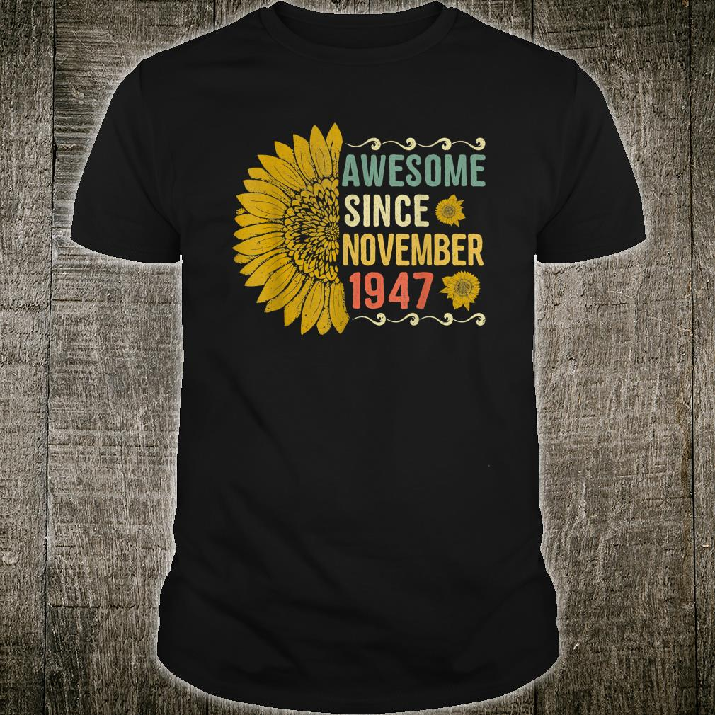 Awesome November 1947 Sunflower Shirt
