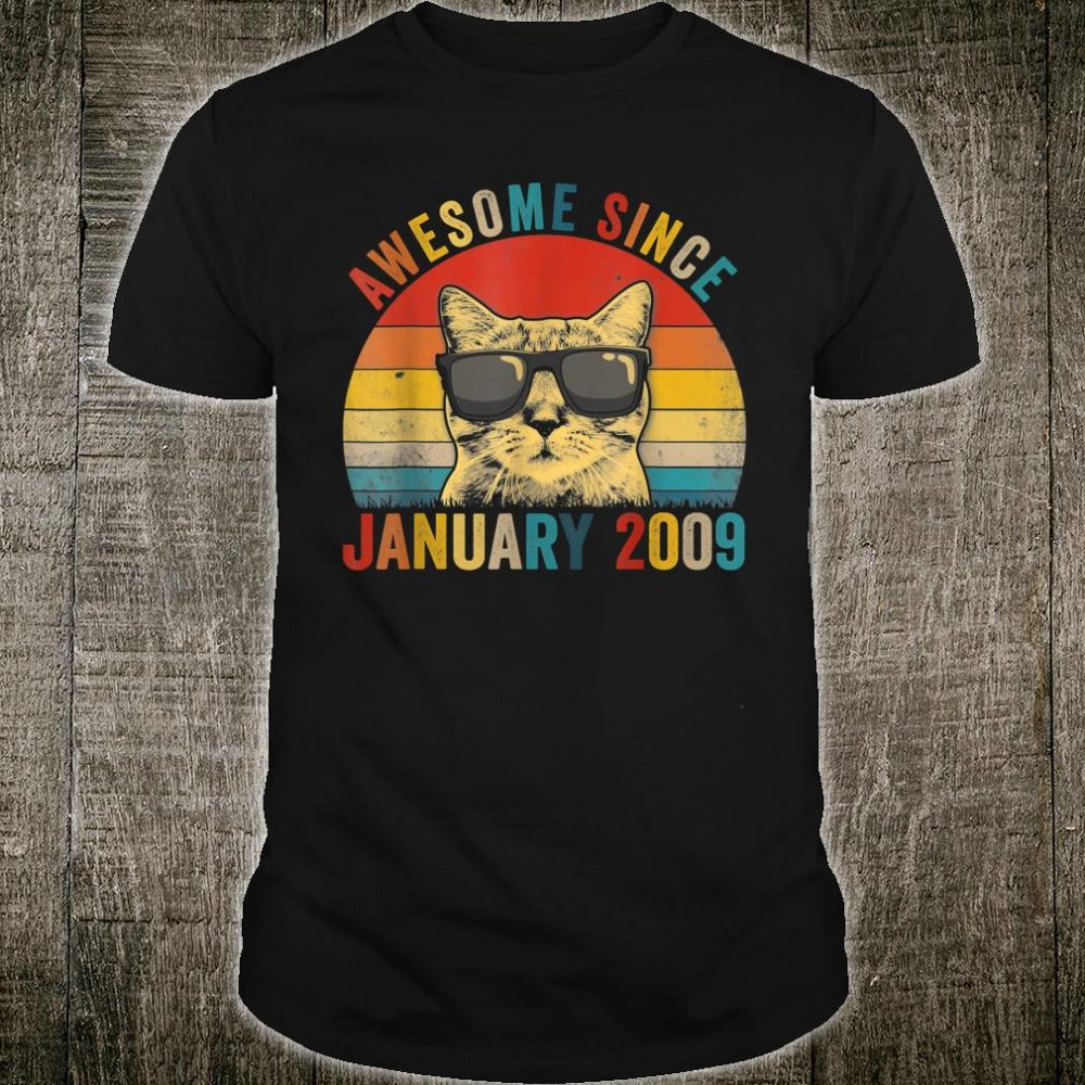Awesome Since January Cat Lover 2009 Shirt