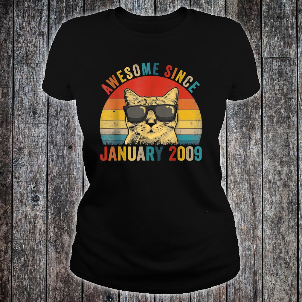 Awesome Since January Cat Lover 2009 Shirt ladies tee