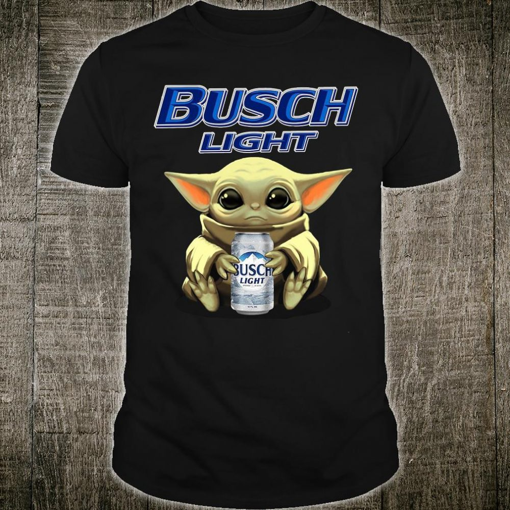 Baby Yoda drink busch light shirt