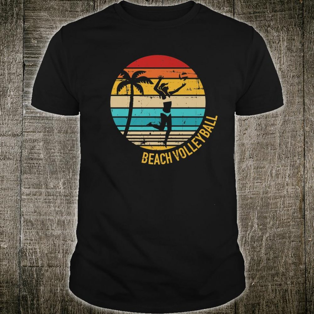 Beach volleyball vintage retro Shirt
