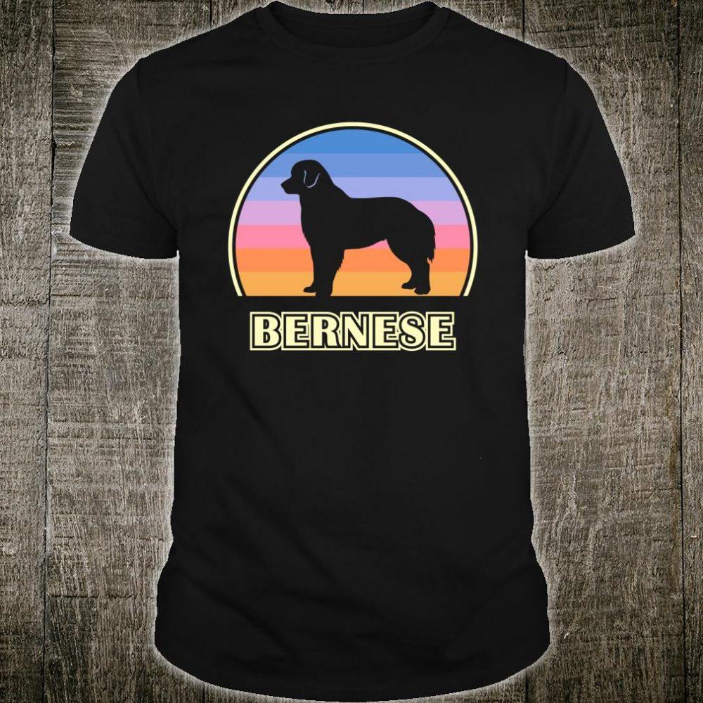 Bernese Mountain Dog Vintage Sunset Dog Shirt