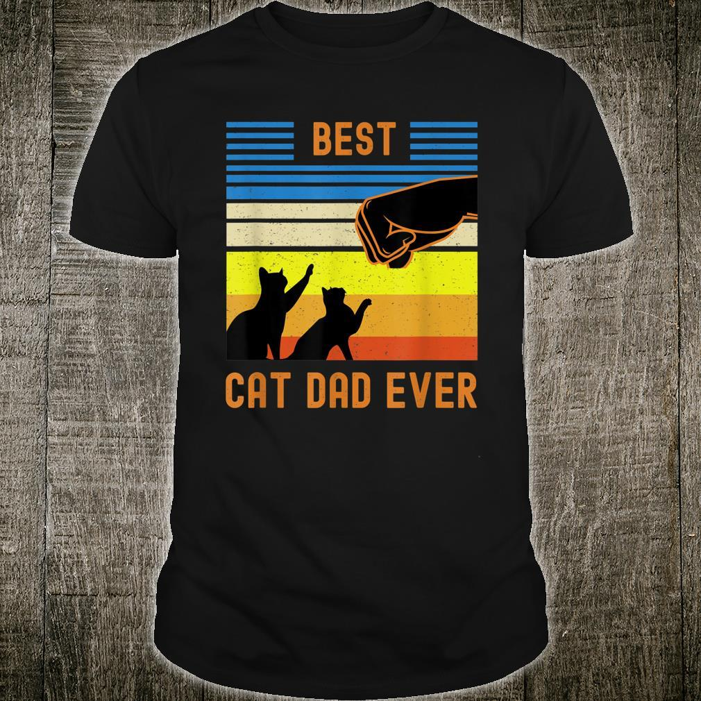 Best Cat Dad Ever  Fist Bump Shirt