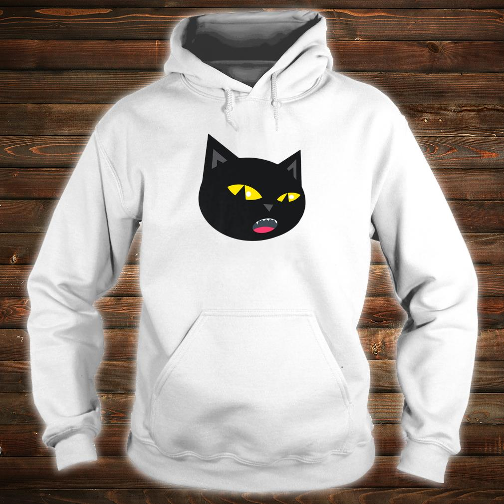 Black Cat Meowing Halloween Shirt hoodie