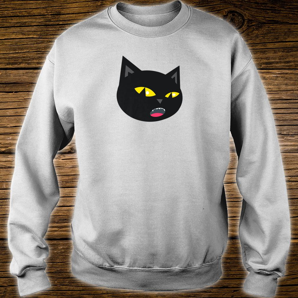 Black Cat Meowing Halloween Shirt sweater