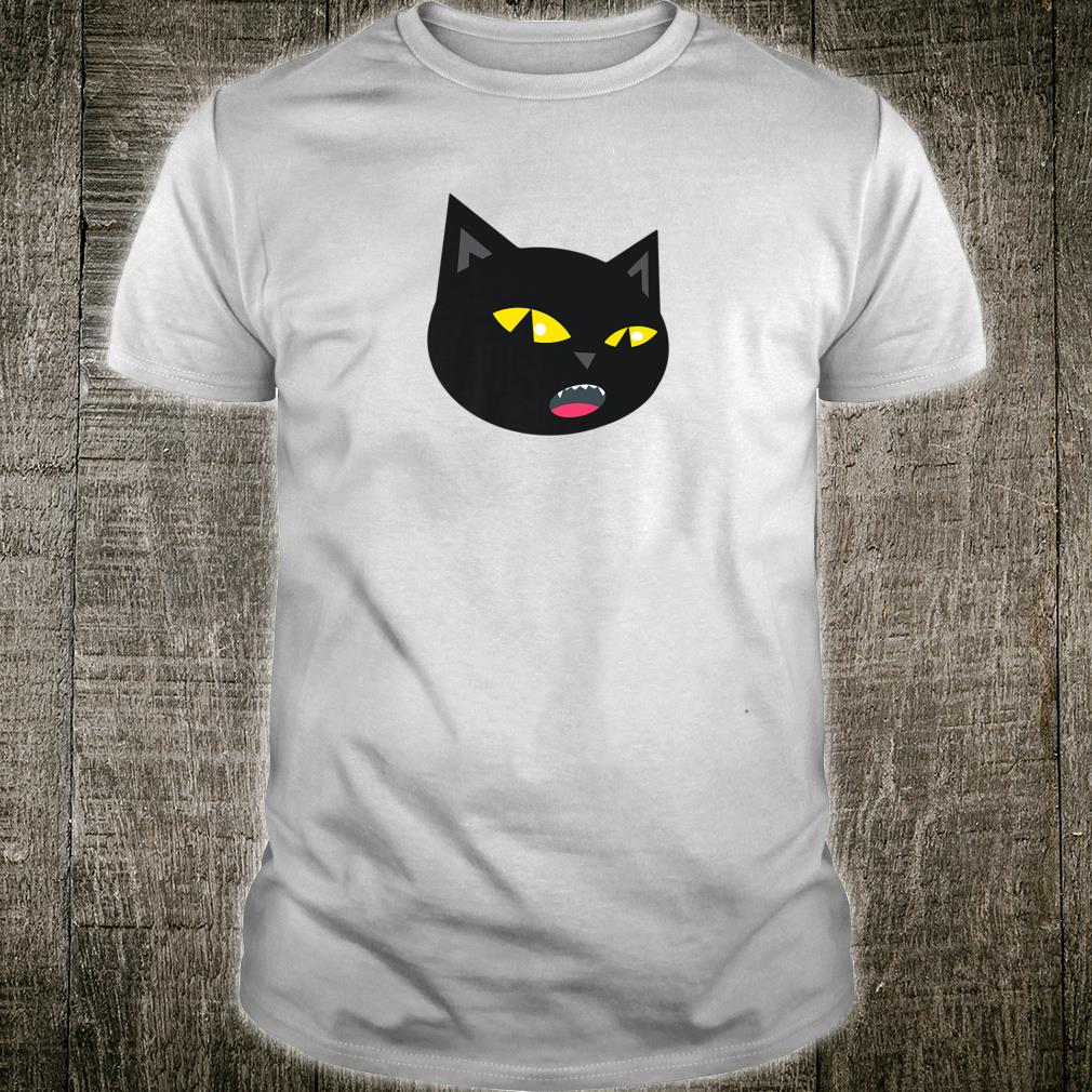 Black Cat Meowing Halloween Shirt
