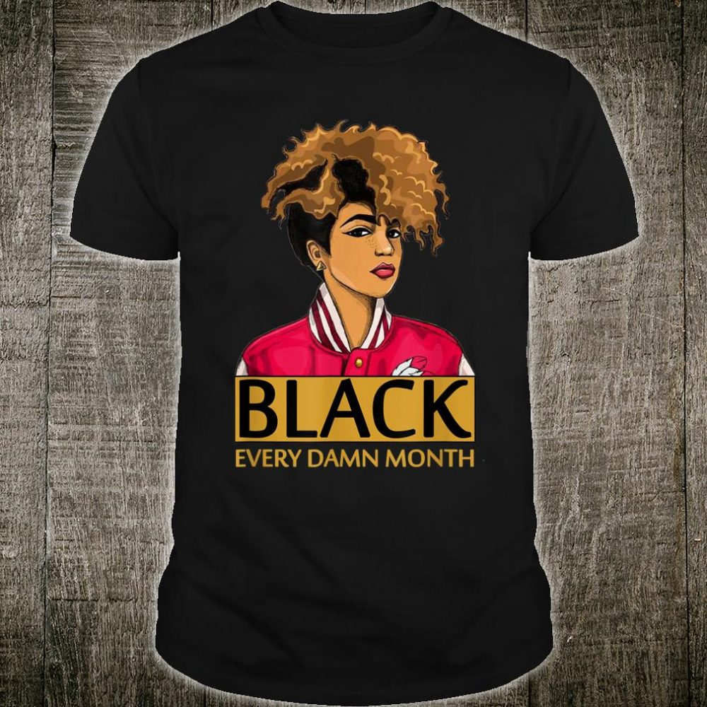 Black Melanin Afro Queen Black History Month Shirt