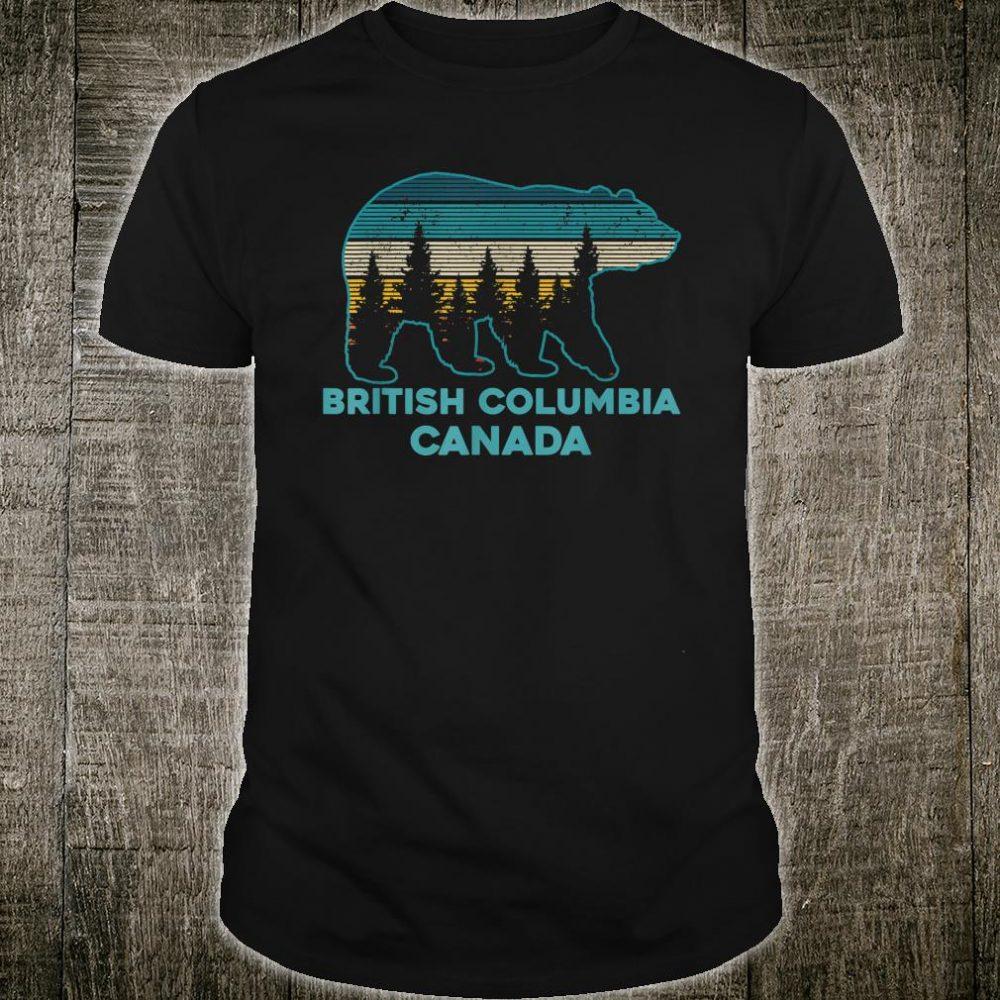 British Columbia Canada Vintage Grizzly Bear Souvenir Shirt
