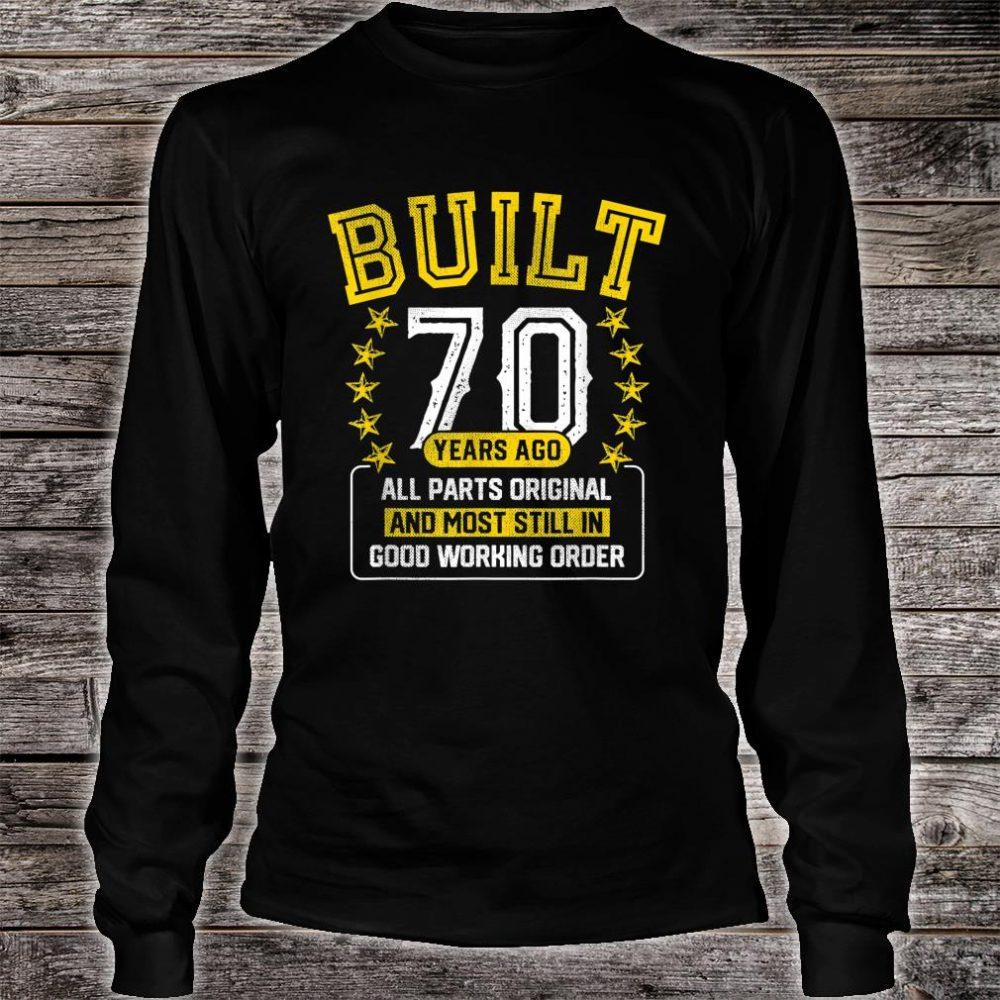 Built Adult 70 Years Old Joke Shirt long sleeved