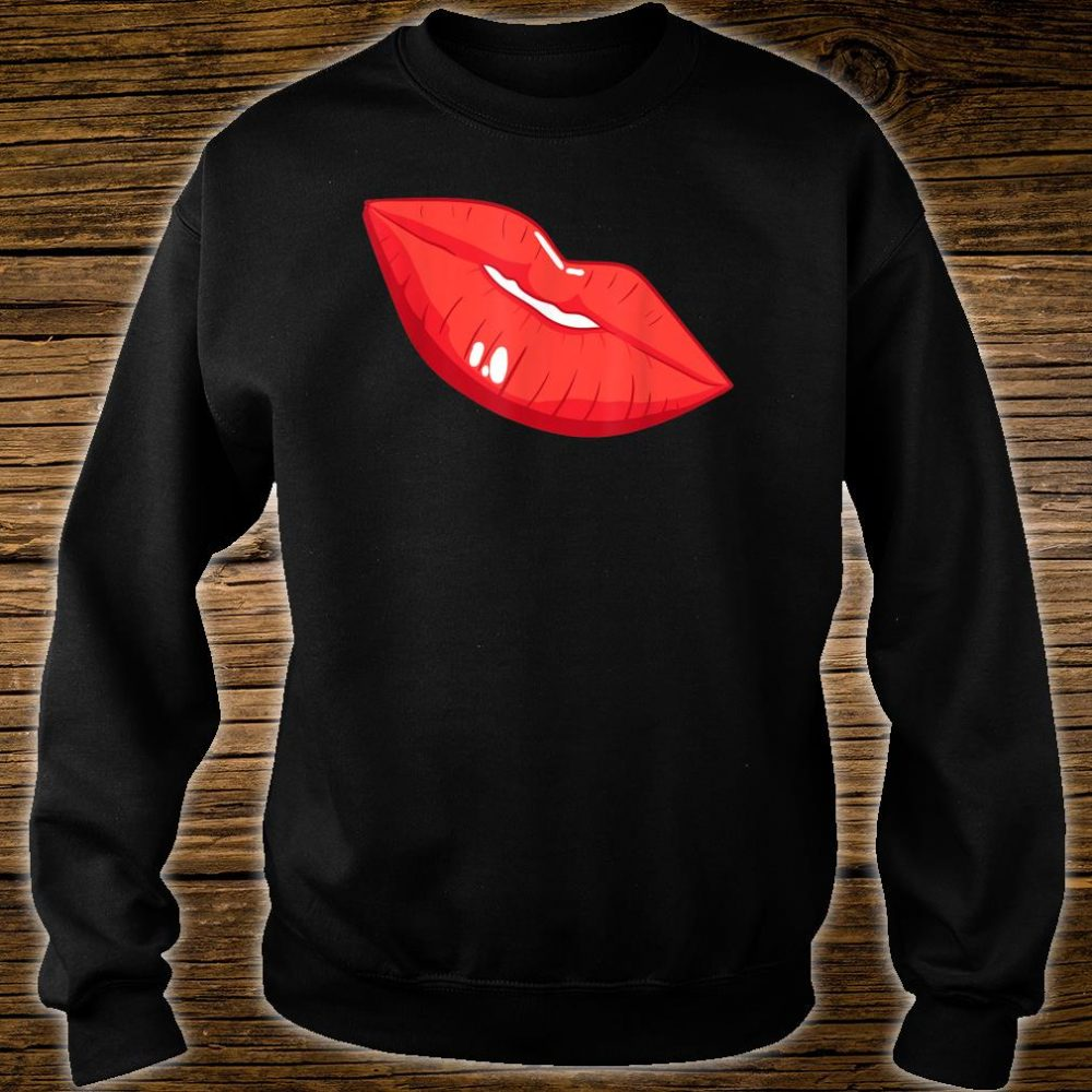 Casual Cool Sexy Lips Print Shirt sweater