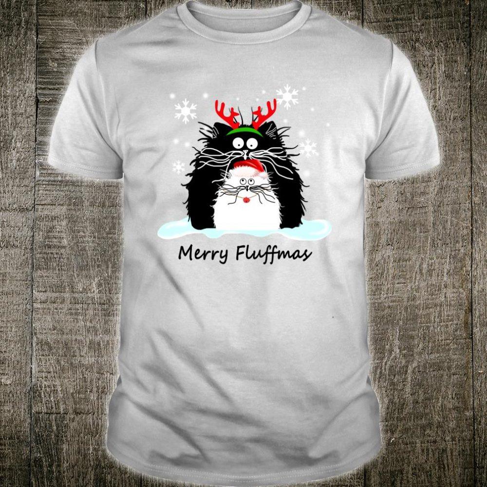 Cat Merry Fluffmas Christmas Shirt